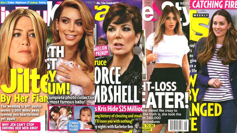 Illustration for article titled This Week in Tabloids: Kim Kardashian's Weight-Loss Secret Is Surgery