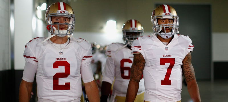 Illustration for article titled Reports: Colin Kaepernick Benched For Blaine Gabbert