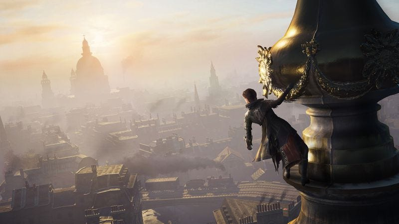 Illustration for article titled A foot in the past is the only thing holding back Assassin's Creed Syndicate