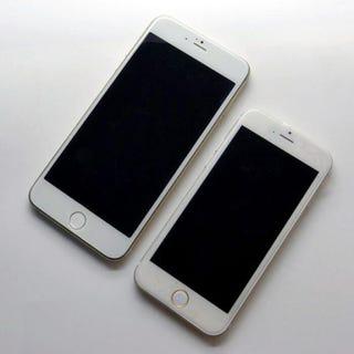 Illustration for article titled Így néz ki az új iPhone 6 kisebb és nagyobb modellje