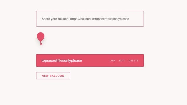 Balloon Sends a Link for Anyone to Add Files to Your Dropbox