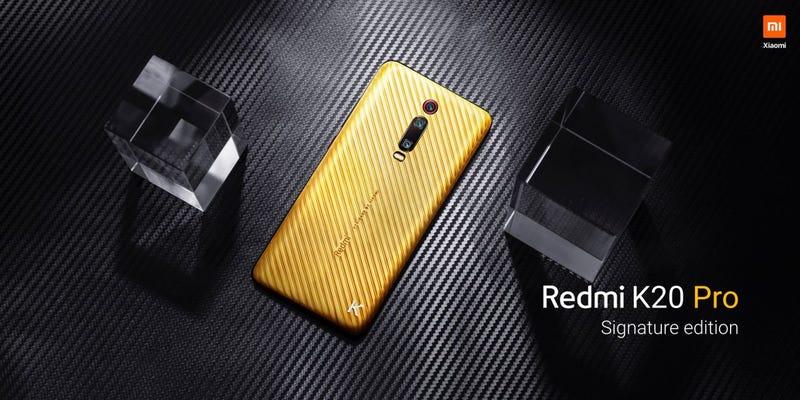 Illustration for article titled El nuevo Redmi K20 Pro Signature Edition cuesta 7.000 dólares y está hecho de oro