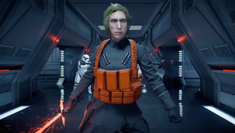 Illustration for article titled Kylo Ren's SNL Gag Is Now A Battlefront II Mod