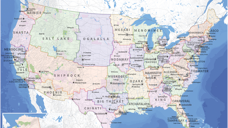 Illustration for article titled How State Boundaries Would Look Based on Equal Population