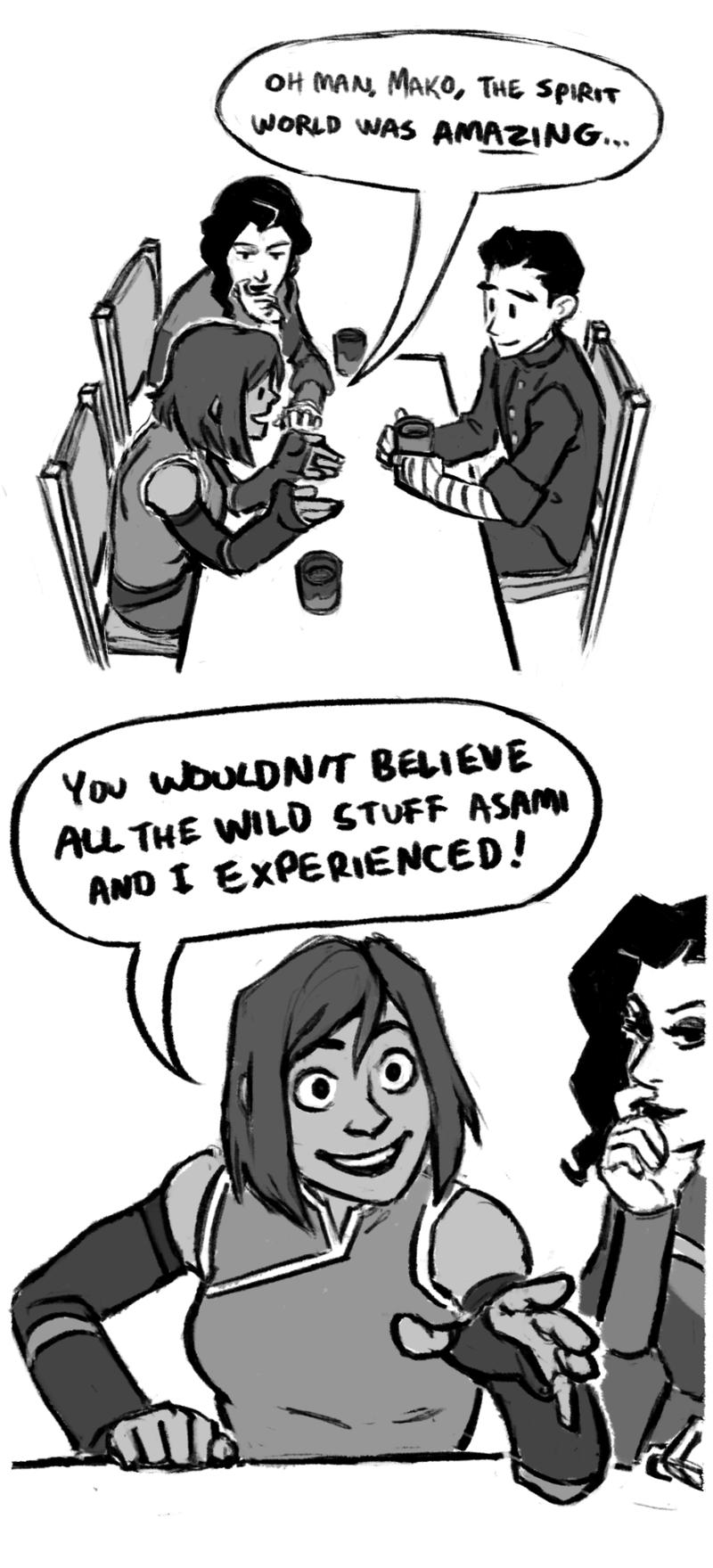 Illustration for article titled Korra Comic