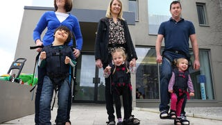 Walking Social: A Baby Carrier Gets Children Upright