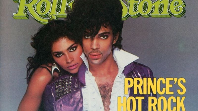 Prince and Vanity on the cover of Rolling Stone