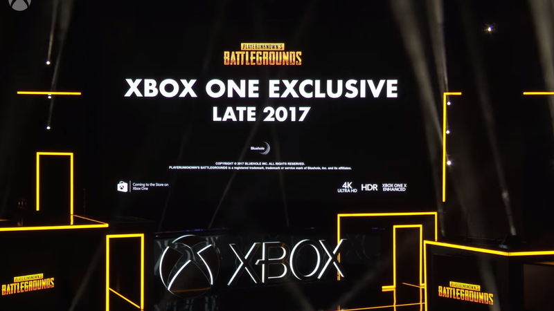 Above: Microsoft presents a game that people have been playing on PC for months.