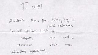 Illustration for article titled Ezzel a kézzel íratott vacakkal lehet címet váltani az OTP-ben