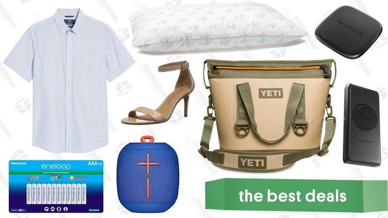 Illustration for article titled Thursday's Best Deals: Qi Chargers, Nordstrom Rack Sale, YETI Hopper, and More