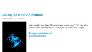 Download New Android Boot Animations