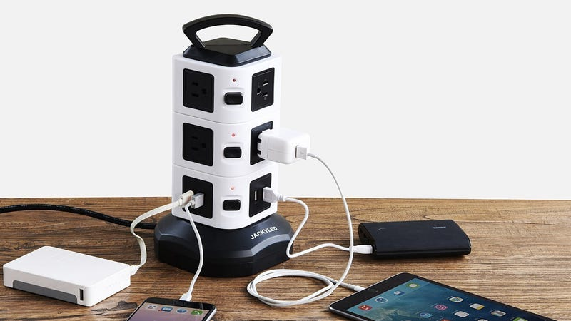 JACKYLED Power Strip Tower | $19 | Amazon | Use code BKQC8KSK