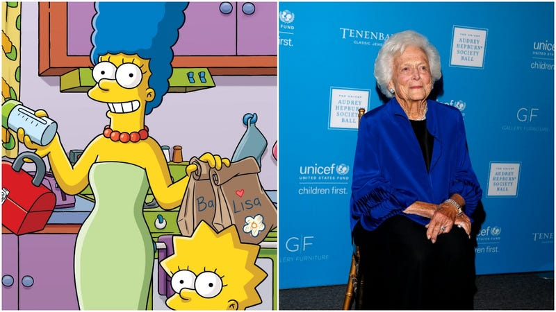 Illustration for article titled Looking back at the time Marge Simpson found common ground with her pen pal, Barbara Bush