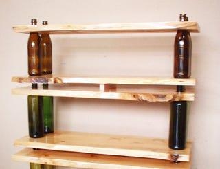 Illustration for article titled Build Modular Shelves Using Glass Bottles