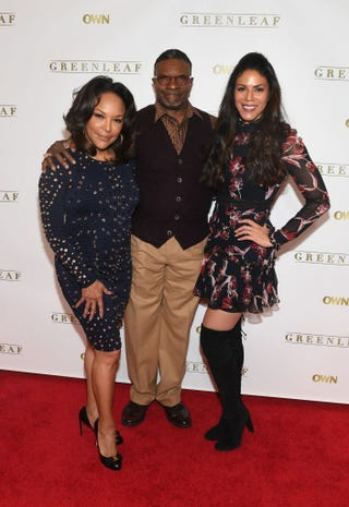 Lynn Whitfield, Keith David and Merle Dandridge attend Greenleaf Season 2 Press Luncheon on Feb. 3, 2017, in Atlanta. (Paras Griffin/Getty Images for OWN)