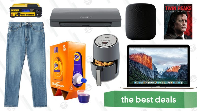 Illustration for article titled Friday's Best Deals: Refurb MacBooks, Everlane Denim, Tide Eco-Box, and More