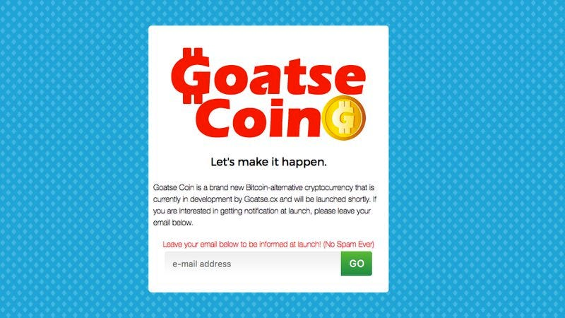 Illustration for article titled Beloved gaping asshole Goatse is creating its own Bitcoin