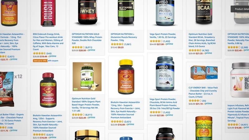 Illustration for article titled Amazon's One-Day Supplement Sale Includes Everything From Protein, to CLIF Bars, to Recovery Formulas