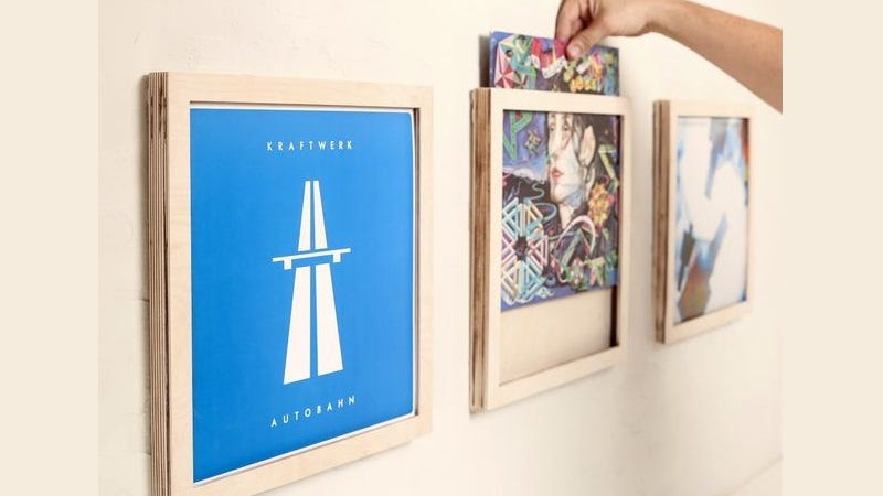 Show Off Your Favorite Albums With These DIY Vinyl Record Frames