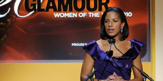 Susan Rice at the Glamour Magazine 2010 Women of the Year Gala in NYC.(Larry Busacca/Getty Images for Glamour Magazine)