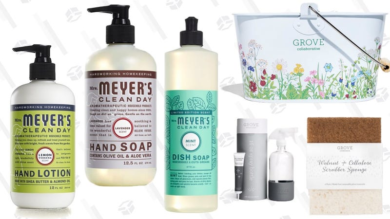 FREE (With $20 Purchase) Mrs. Meyers Gift Set | Grove | Automatically adds $20 of items to cart, but you can replace them with anything you want