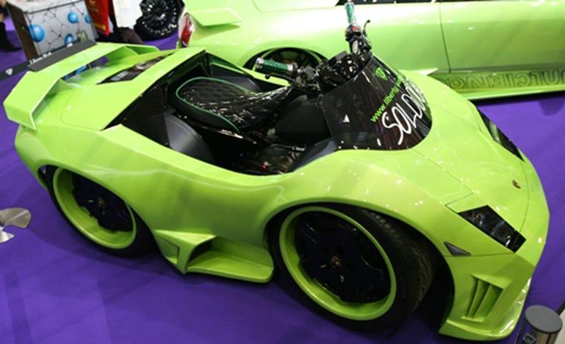 Illustration for article titled Lamborghini ATVs Spotted At 2009 Tokyo Auto Salon