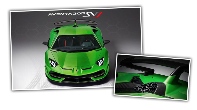 Illustration for article titled Here's the New Lamborghini Aventador SVJ Before You're Supposed to See It