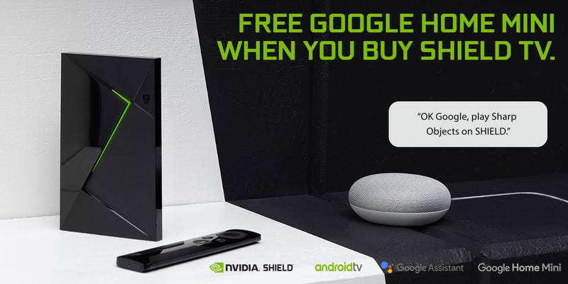 NVIDIA SHIELD TV Streaming Media Player with Remote + Free Google Home Mini | $180 | Walmart