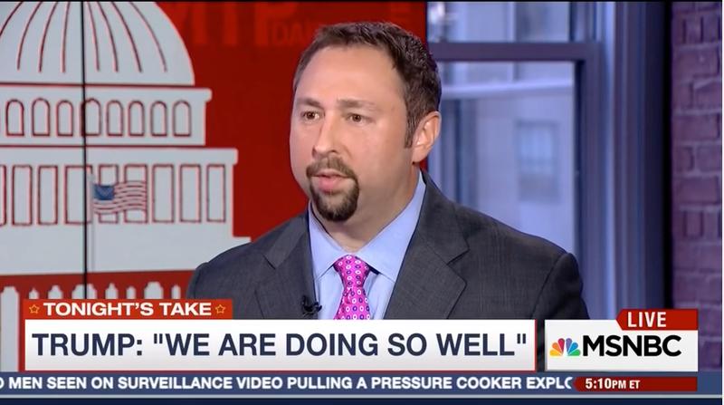 Jason Miller on MSBNC. Screenshot via YouTube/Trump Team Comms