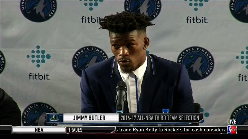 Illustration for article titled Jimmy Butler Gives The Masses His Number, Tells Them To Call
