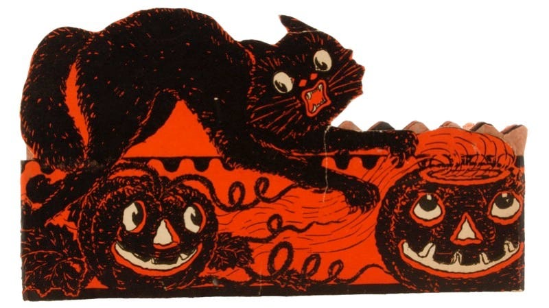 Frightened Cat Honeycomb Band Hat, Beistle, early 1930s, $165. Image and caption courtesy of Mark B. Ledenbach.