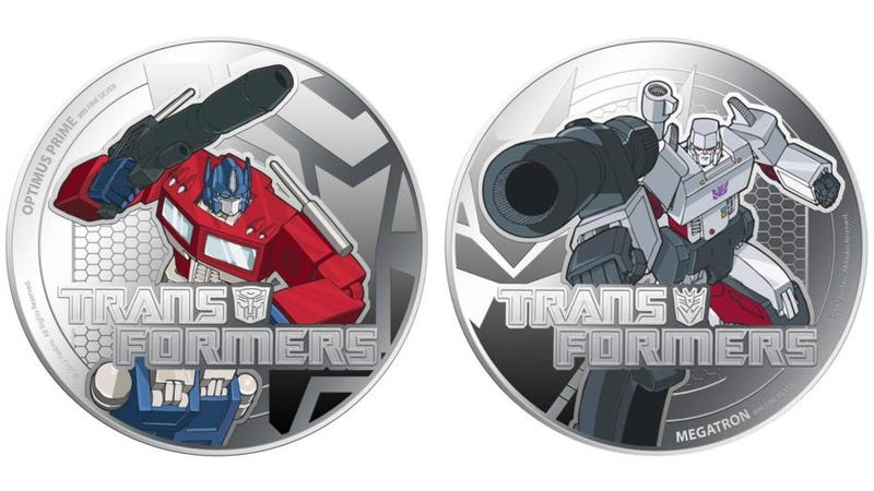 Illustration for article titled New Zealand Transformer Coins Feature Heros We Actually Care About