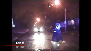 Dash-cam video shows a Chicago police officer firing into a vehicle occupied by black teens.FOX 32