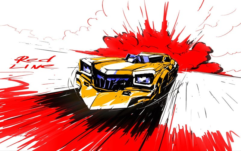 Illustration for article titled Showed my car friend/roommate Redline (the anime one)