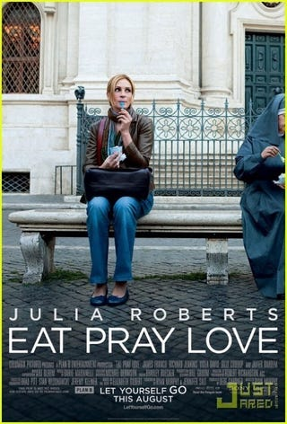 Illustration for article titled Eat, Pray, Love Poster: Julia In The City