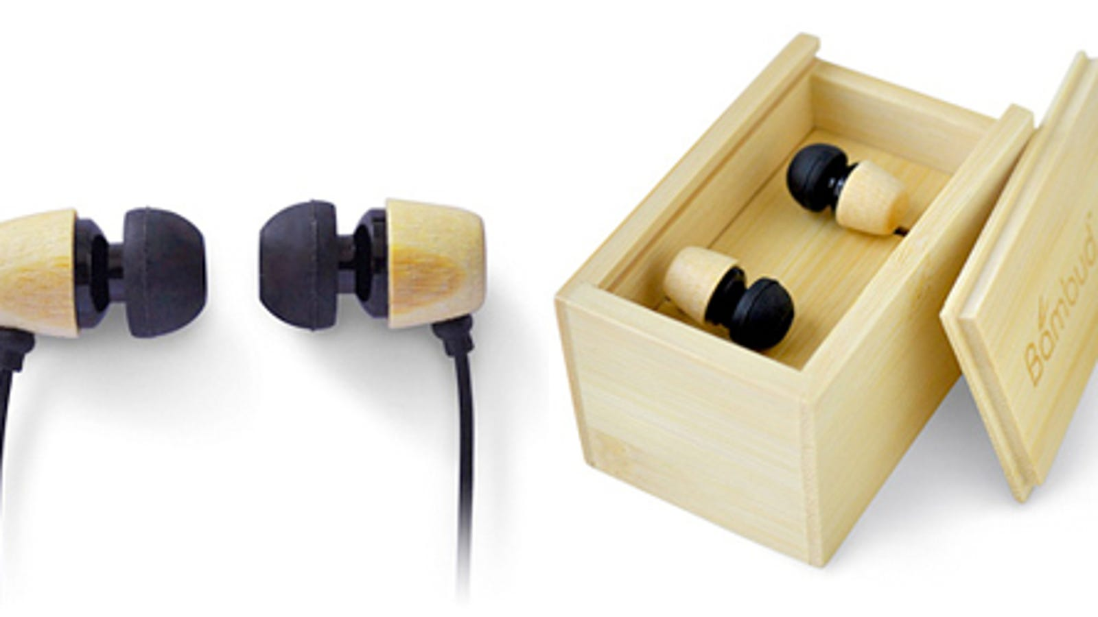 bamboo headphone stand - Bamboo Earbuds Are an Exercise in Simple Technology
