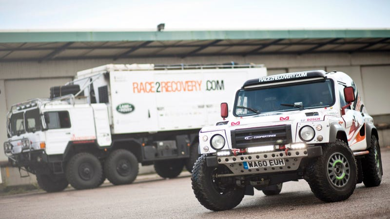 Illustration for article titled Land Rover-Sponsored Race2Recovery Sets Sail To Dakar