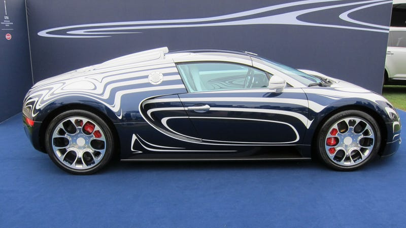 Illustration for article titled Bugatti Veyron Grand Sports L'Or Blanc
