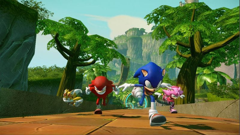 Illustration for article titled Sonic Boom trades the series' hallucinatory art for a shabby bootleg