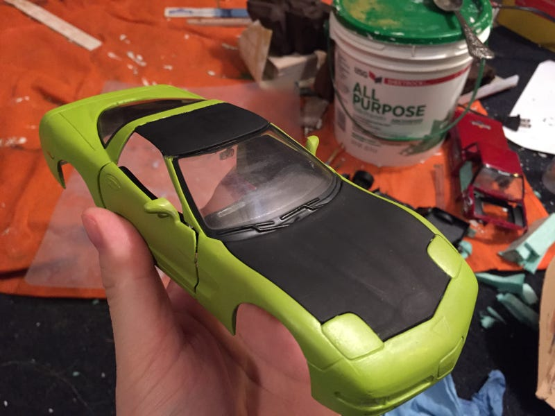Illustration for article titled [Incomplete] Custom Maisto Corvette