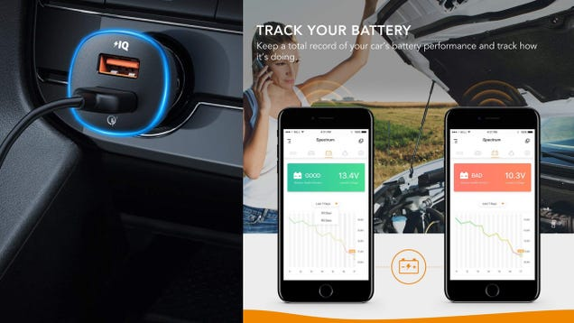 This Car Charger Changes Colors, Monitors Your Car Battery, and Remembers Where You Parked For $14