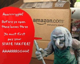 """Illustration for article titled No More Tax Free Online Purchases For New York With New """"Amazon Tax"""" Bill"""