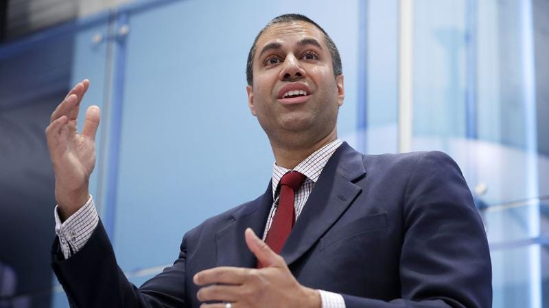 FCC Chairman Ajit Pai is not your friend. (Photo: Chip Somodevilla/Getty Images)