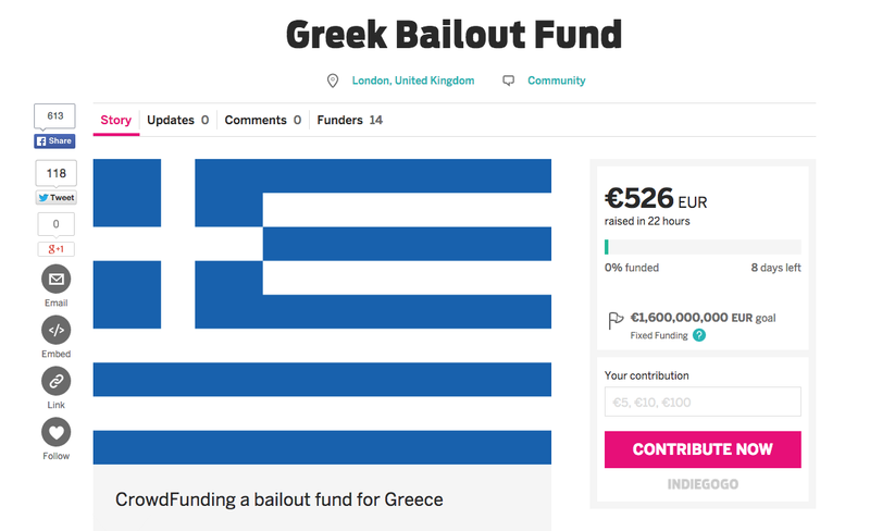 Illustration for article titled Someone Is Trying to Crowdfund a Greek Bailout Because Why Not