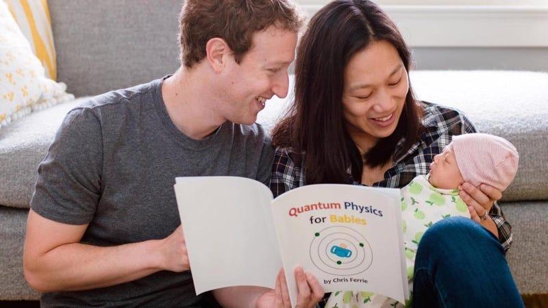 Mark Zuckerberg y Priscilla Chan con su hija Max