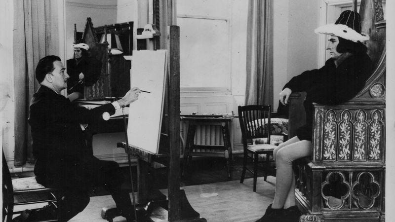 Salvador Dali with a low-tech version of Microsoft Paint. (Photo: Getty Images/Keystone/Hulton Archives)