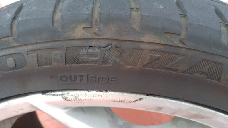 Illustration for article titled Curb vs. tire, sadness ensues