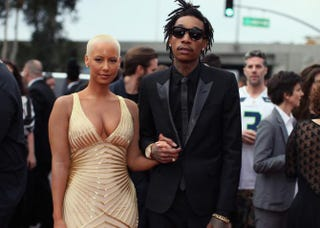 Wiz Khalifa and Amber Rose attend the 56th Grammy Awards at the Staples Center Jan. 26, 2014, in Los AngelesChristopher Polk/Getty Images for NARAS