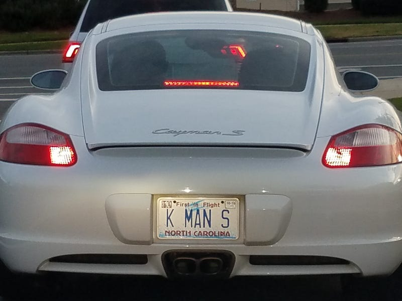 Not the car I worked on today, but somewhat creative plate seen just now.