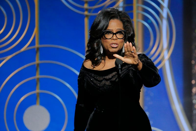 Oprah Winfrey accepts the 2018 Cecil B. DeMille Award  during the 75th annual Golden Globe Awards on Jan. 7, 2018, in Beverly Hills, Calif. (Paul Drinkwater/NBCUniversal via Getty Images)